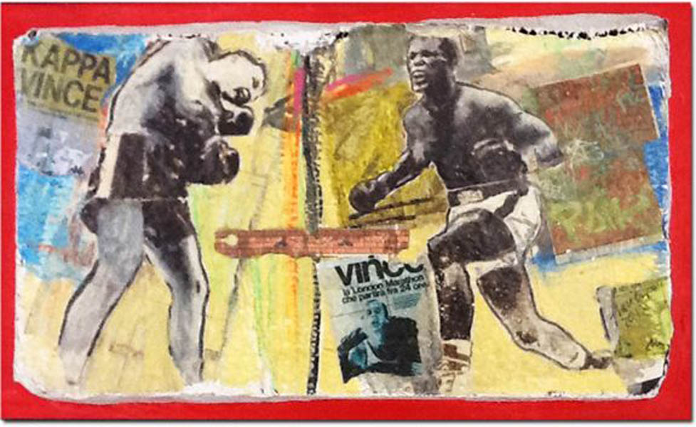 BOXE ON THE WALL