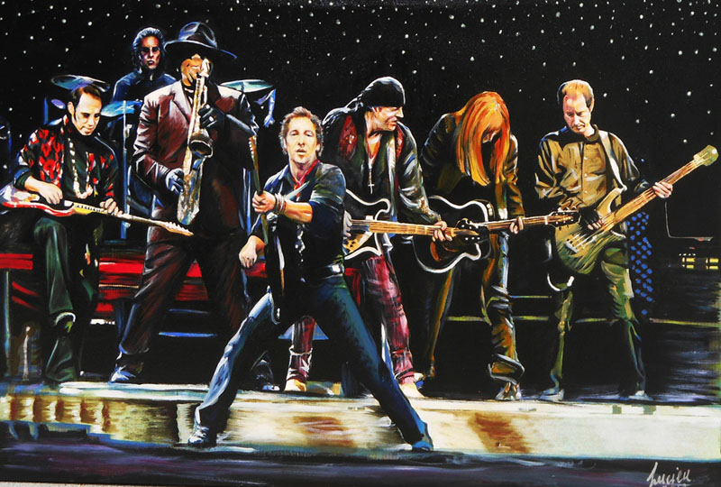 Bruce Springsteen e Street Band - painting