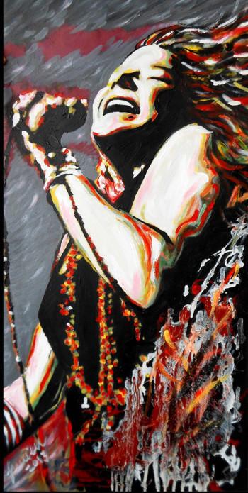 Janis Joplin-painting