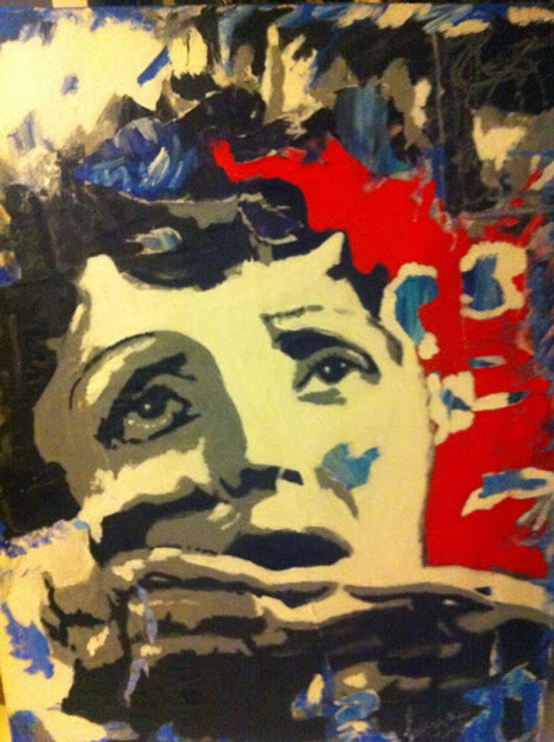 La mome-tableau-Edith Piaf