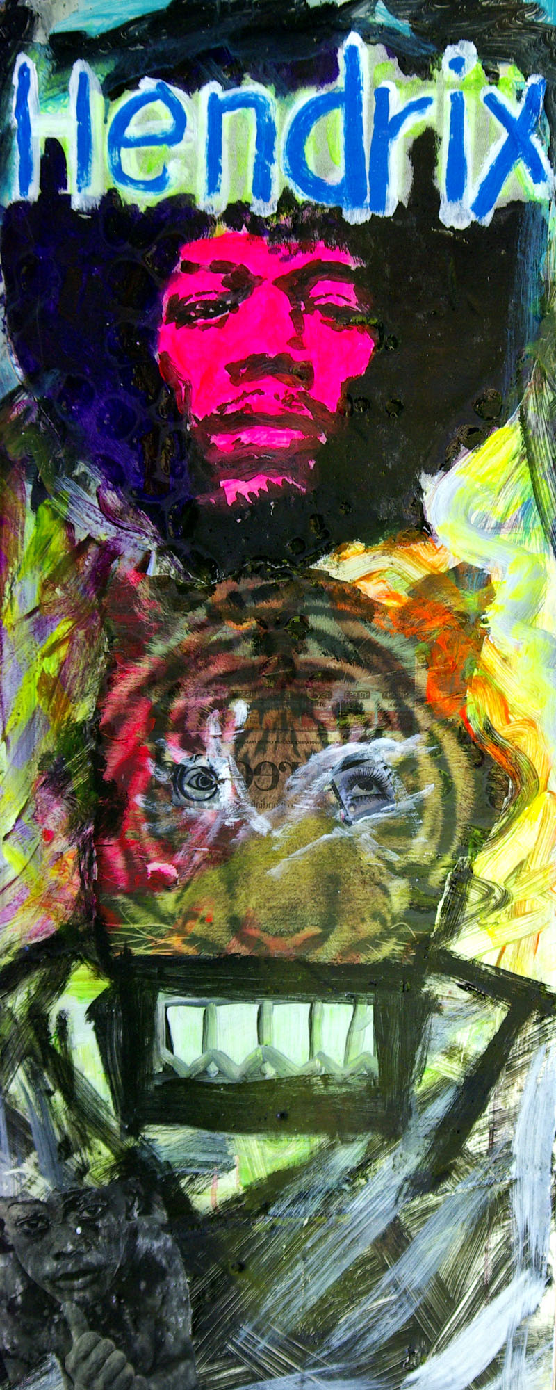 Jimi Hendrix-VOODOO CHILE-painting