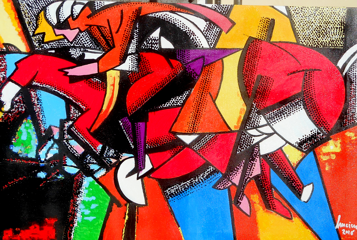 Acrilico e Pennarelli su tela 70 x 100 2016